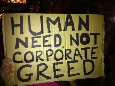 Human Need, Not Corporate Greed