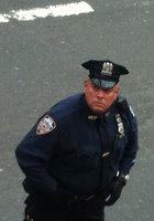 Policeman on Brooklyn Bridge