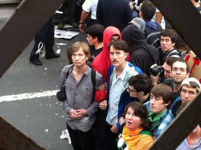 Defiant Protesters on Brooklyn Bridge